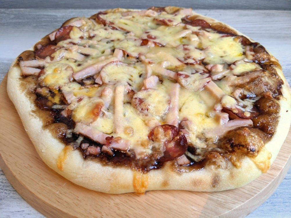 homemade sourdough pizza