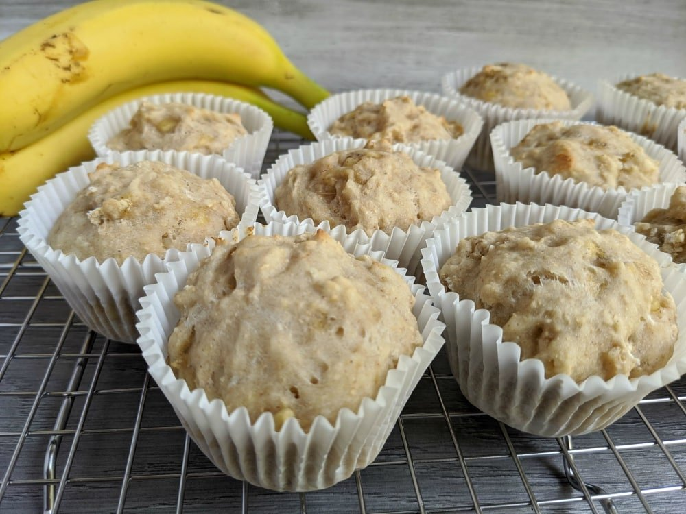 sourdough starter banana muffins