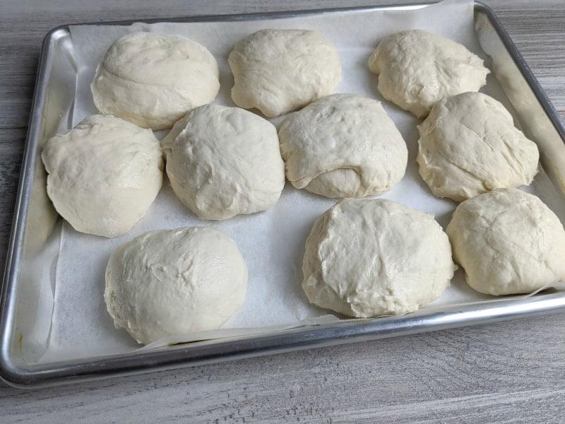 homemade sourdough bread rolls