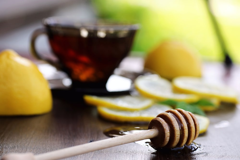 buckwheat honey and tea